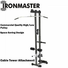 IRONMASTER Cable Tower Attachment for Super Bench Lat Pulldown Machine Seated Ro