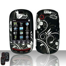 White Flowers Case Snap on Cover Samsung Gravity T T669