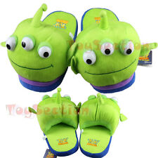 Toystory 3 Eyes Alien Adult Warm Home Bedroom Plush Doll Home Shoes Slippers NEW