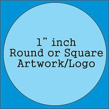 """Custom 1"""" inch Rubber Stamp, made with your artwork & business logos. Personaliz"""