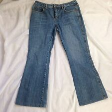 "Esprit Womens Size 12 Denim Bling Pocket Embellished Flare Jeans 32"" x 29"""