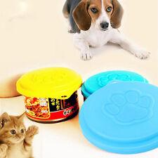 2pcs Plastic Reusable Pet Dog Cat Food Can Cover Storage Cap Lid Tin Top 88mm