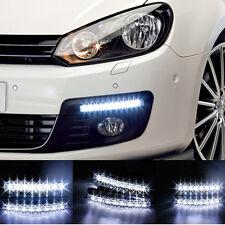 LED DRL Feux de jour Avant Phare Diurne Eclairage Voiture auto 8 LED Blanc Xenon