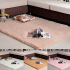 Soft Shaggy Fluffy Rugs Anti-Skid Area Rug Dining Room Carpet Bedroom Floor Mats