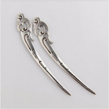 10 Tibetan Silver Phoenix Bookmark Jewelry Making Findings 90mm