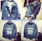 KPOP BTS Jacket Bangtan Boys J-hope Jin Jung Kook Demin Coat Rap Monster Jacket