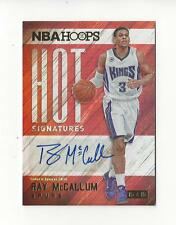 2015-16 Hoops Hot Signatures #37 Ray McCallum AUTOGRAPH Spurs