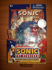 knuckles sonic the hedgehog clear blue jazwares comic book pack figure nib