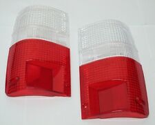 Tail Light Clear-Red Lenses Pair Fits Toyota Hilux Pick Up 1989-1995 91 92 MK3