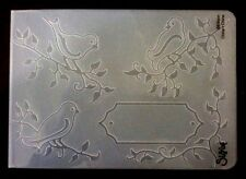 Sizzix Large Embossing Folder BIRDS ON BRANCHES #2  fits Cuttlebug & Wizard