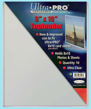 "10 Ultra Pro 8""x10"" TOPLOADERS NEW for Sleeves Memorabilia Photos Collectibles"