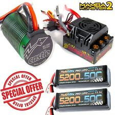 Castle Creations 1/8 Mamba Monster 2 WP ESC 2200kV Motor w/ 2x 3S 5200mAh LiPos