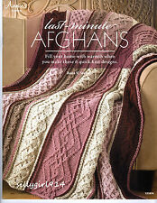 """LAST MINUTE AFGHANS""~Annie's Attic KNIT PATTERN BOOK~6 Designs~SEE PICTURES"