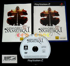 SWORD OF THE SAMURAI 1 Ps2 Versione Italiana 1ª Edizione ••••• COMPLETO