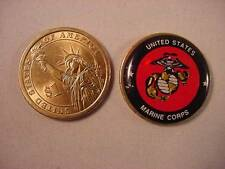 "USMC US MARINE CORPS STATUE of LIBERTY DOLLAR GOLF 1"" BALL MARKER"