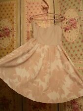H& M peach muted floral cotton dress boned bodice  worn once  vintage print