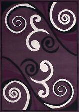 New Amazing Modern Dallas Area Rug 5x7 Room Size Billow Plum