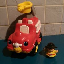 Fisher-Price Fire Engine + Fire Fighter Figure Sounds Toy
