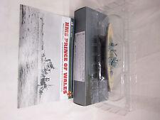 DeAgostini Atlas legendario buques de guerra-HMS príncipe de Gales 1/1250 escala en muy buena condición
