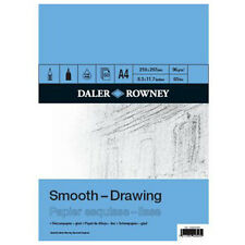 A4 DALER ROWNEY SMOOTH DRAWING SKETCH PAD 96GSM 50 SHEETS ARTIST PAPER blue