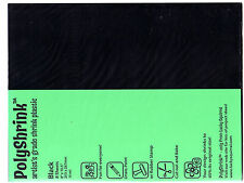 "Craft Product-Polyshrink -8 Shrink Plastic Sheets - Black -8""x 10.5 #4255"