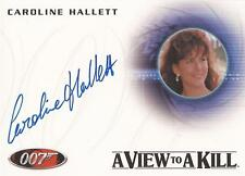 "James Bond Autographs & Relics - A237 Caroline Hallett ""Zorin Party Guest"" Auto"