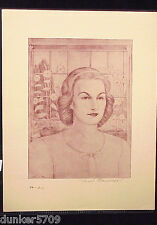 SEPIA PRINT MISS T.K. BY AURIEL BESSEMER 5 5/8 BY 7 5/8 INCHES #13