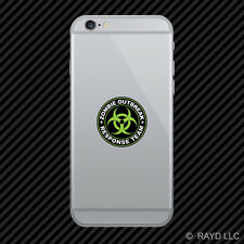 Zombie Outbreak Response Team Cell Phone Sticker Mobile Die Cut Type 2