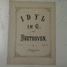 salon piano IDYL IN G beethoven , 5pp