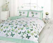 SUPERB TRENDY FUNKY COTTON BUTTERFLY GREEN KING SIZE DUVET SET QUILT COVER