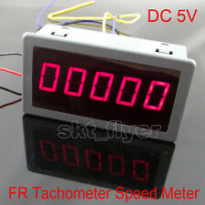 "DC 5V Frequency Motor Tachometer Rotate Speed Meter 100KHZ 0.56"" DIGITAL Red LED"