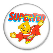 "Superted 25mm 1"" Pin Badge Button Retro Vintage Pop Art"