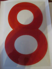 Big no 8 England Home Football Shirt Name Set Rear Number Red Sporting ID
