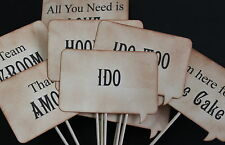 SPEECH BUBBLE PHOTO BOOTH PROPS-SIGNS-Vintage Style-Unique-Handmade-Set of 12