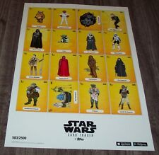 TOPPS STAR WARS RETURN OF THE JEDI NYCC UNCUT SHEET OF CARDS PROMO POSTER  PRINT