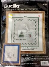 New Vintage Bucilla  Counted Cross Stitch House of Hardanger 41333 Christmas