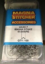 Motor Guard 100pk W-Shape Magna Stake Hot Staples fits Most Hot Staplers MS2017S