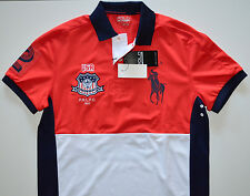NWT Men's Ralph Lauren Short-Sleeve Performance Polo Shirt, USA #2, XL X-Large