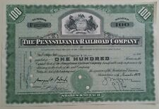 1954 The Pennsylvania Railroad Company 100 Share Certificate Scripophily