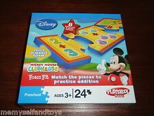 Mickey Mouse Clubhouse Addition Thick Foam 24pc Math Playskook Puzzle 3+ Disney