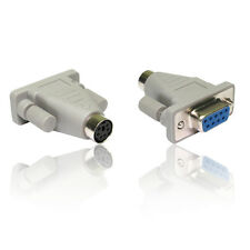 PS/2 6 Pin Mini Din Female to DB9 Serial 9 Pin Female Mouse Adapter Convertor