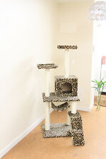 "New Leopard Skin 57"" Cat Tree Condo Furniture Scratch Post Pet House 5777"