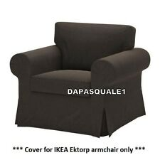 IKEA EKTORP - Slipcover for Armchair Korndal Brown Polycotton (cover only)