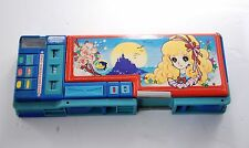 Vintage Mechanical Double Sided Pencil Box Margaret Stationary School Case RARE