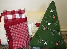 Pottery Barn Kids Santa and Friends twin quilt sham TREE PILLOW Christmas