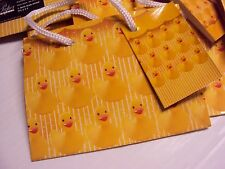 Pk 10 GIFT BAG Small Yellow Rubber Duck Baby Shower Birthday Jewelry Treat Party