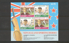 New Zealand 1992 Cricket/Tennis/Sports 4v m/s (n16547)
