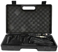 DYNAMIC PREMIUM VOCAL 3 MICROPHONE KIT & CASE, WITH 3 MICROPHONE HOLDERS & LEADS