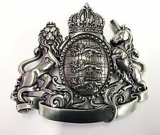 Royal Lion Unicorn Crown Shield Metal Belt Buckle