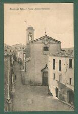 Lazio. MONTELEONE SABINO, Rieti. Piazza e chiesa parrocchiale. Viaggiata 1928